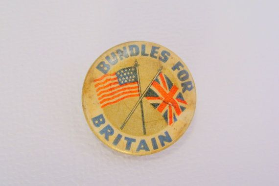 WWII Pinback Button Bundles for Britain Relief Campaign