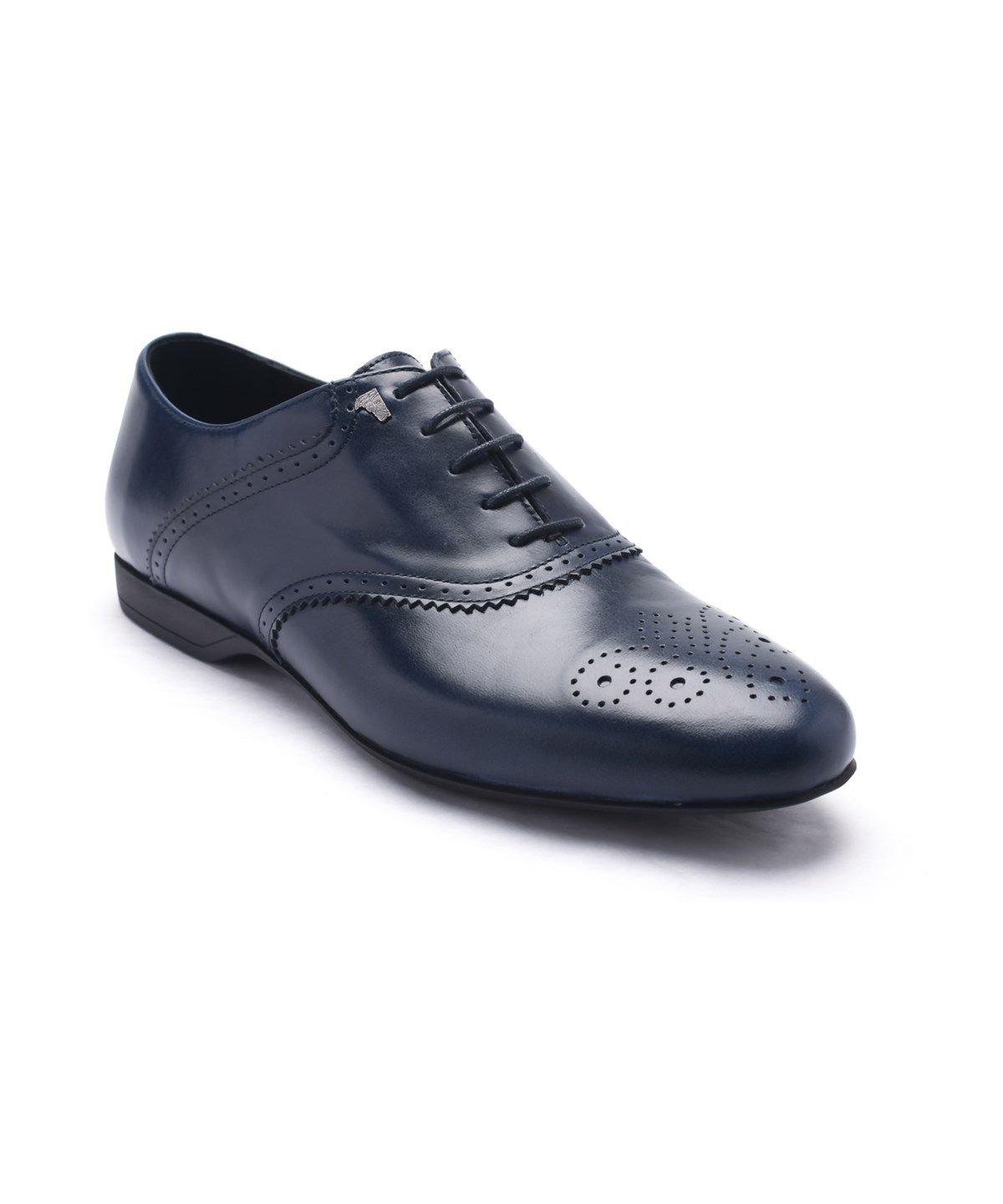 f1173e30bb62dd VERSACE VERSACE COLLECTION MEN S LEATHER OXFORD LACE-UP DRESS SHOES DARK  BLUE NAVY .  versace  shoes  oxfords