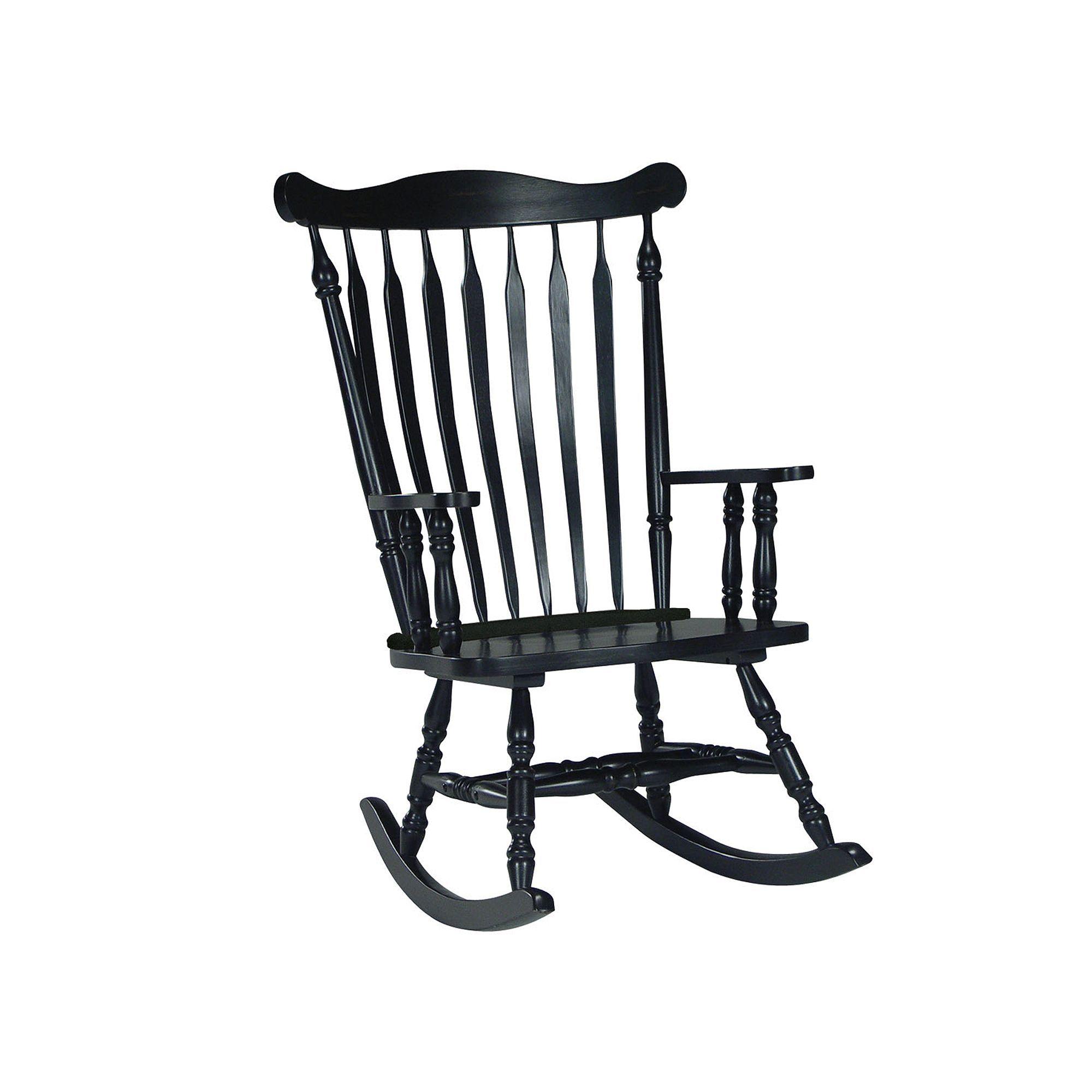Outdoor Rocking Chair, Black Wood rocking chair, Rocking