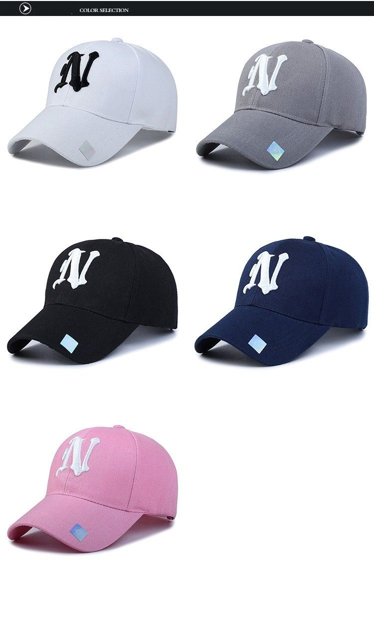 1e6098fe7a7 Baseball Hats Solid color N letter Embroidered Cap for Men Men s Fashion  Accessories Style Baseball Hats Outfit Shop Product Website Store Online