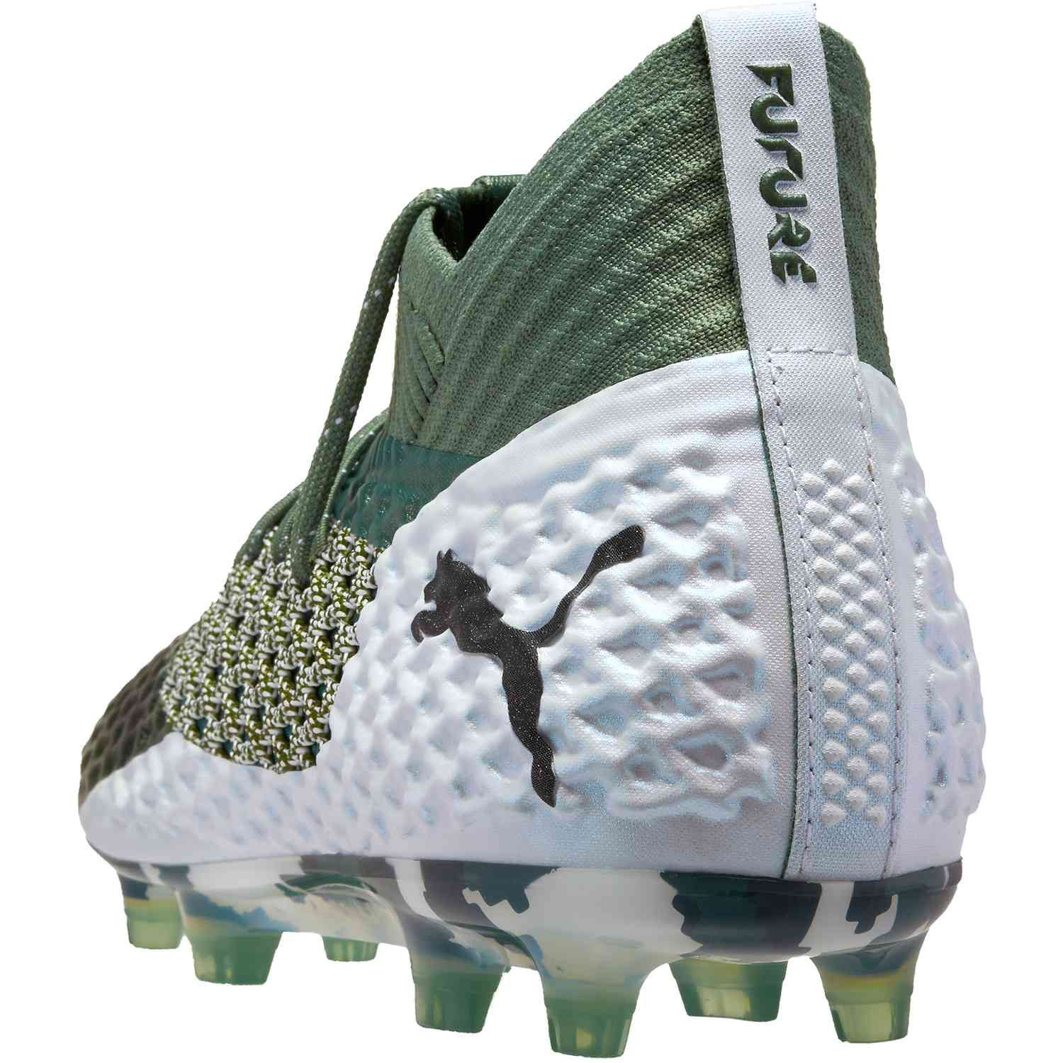20a6859d45458 PUMA Future 2.1 Netfit FG - Laurel Wreath White black - SoccerPro