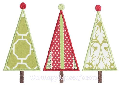 Tall Tree Trio Applique Design Sizes Include 4x4 Hoop 3 90 X 3 73 5x7 Hoop 4 80 X 6 89 Applique Designs Christmas Applique Christmas Embroidery Designs