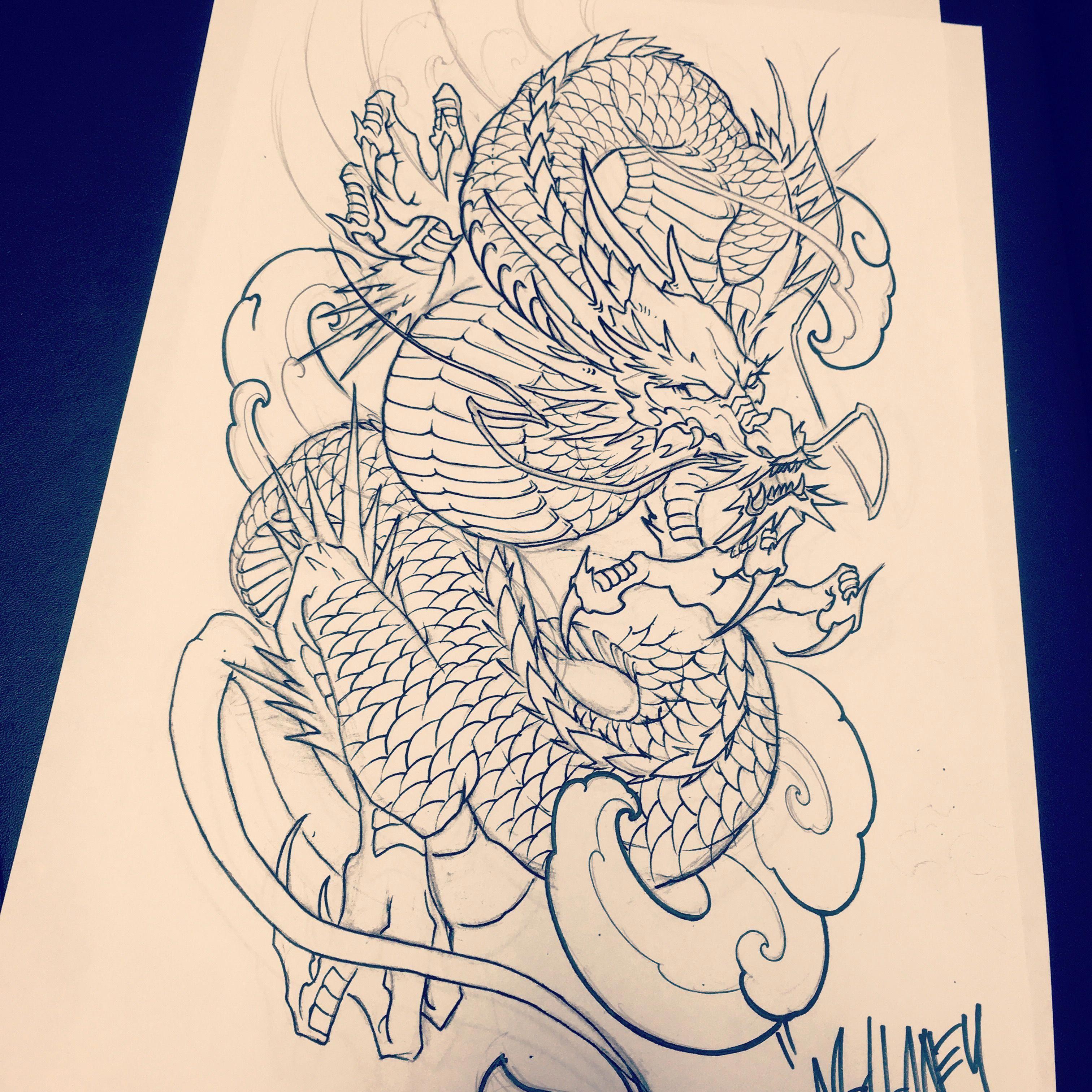 Japanese Tattoo Designs Sleeve Japanesetattoos In 2020 Dragon Tattoo Sketch Japanese Dragon Tattoos Dragon Tattoo Arm