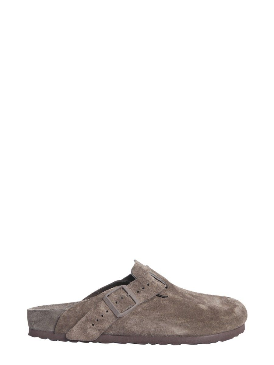 ec974963f73f RICK OWENS RICK OWENS X BIRKENSTOCK BOSTON SUEDE MULES.  rickowens  shoes