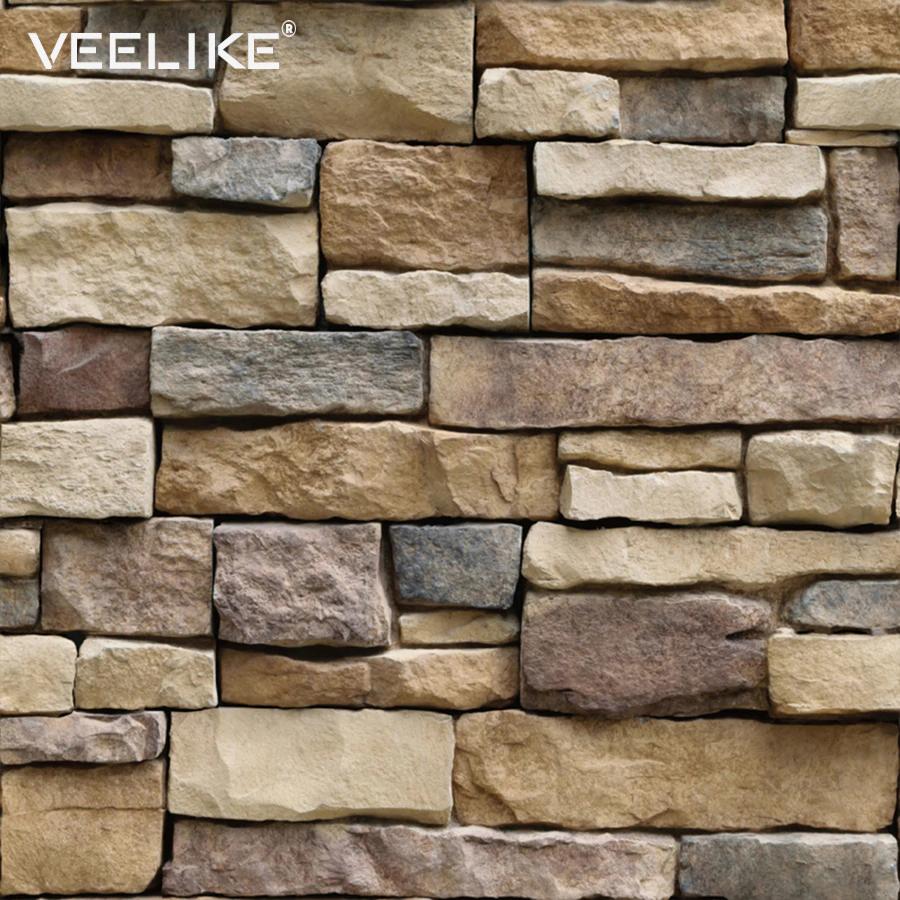 Pvc Vinyl Brick Stone Wall Decals Rustic Self Adhesive Wallpaper For Bedroom Living Room Kitchen Decor Brick Wallpaper Sticker Brick Wallpaper Wall Vinyl Decor