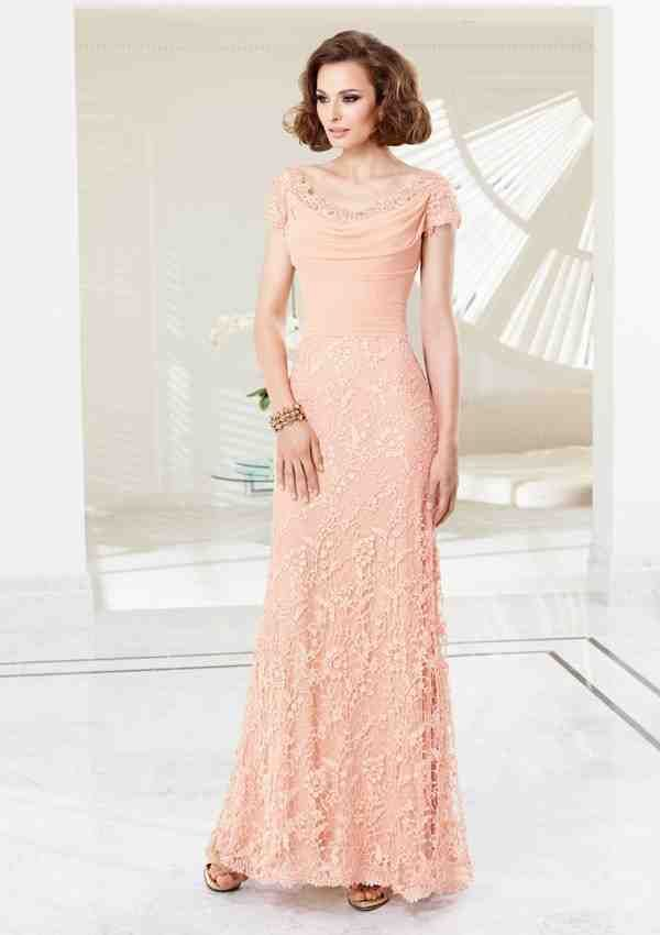 Peach Mother of the Groom Dress