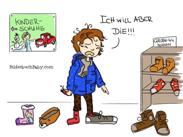 Kleinkind hat Trotzanfall beim Schuhe kaufen ...