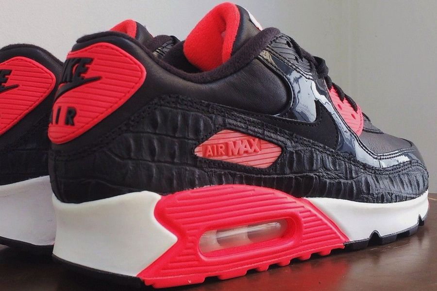 new style 7de2c 00439 Nike Air Max 90 Black Croc   Infrared – New Images   Air 23
