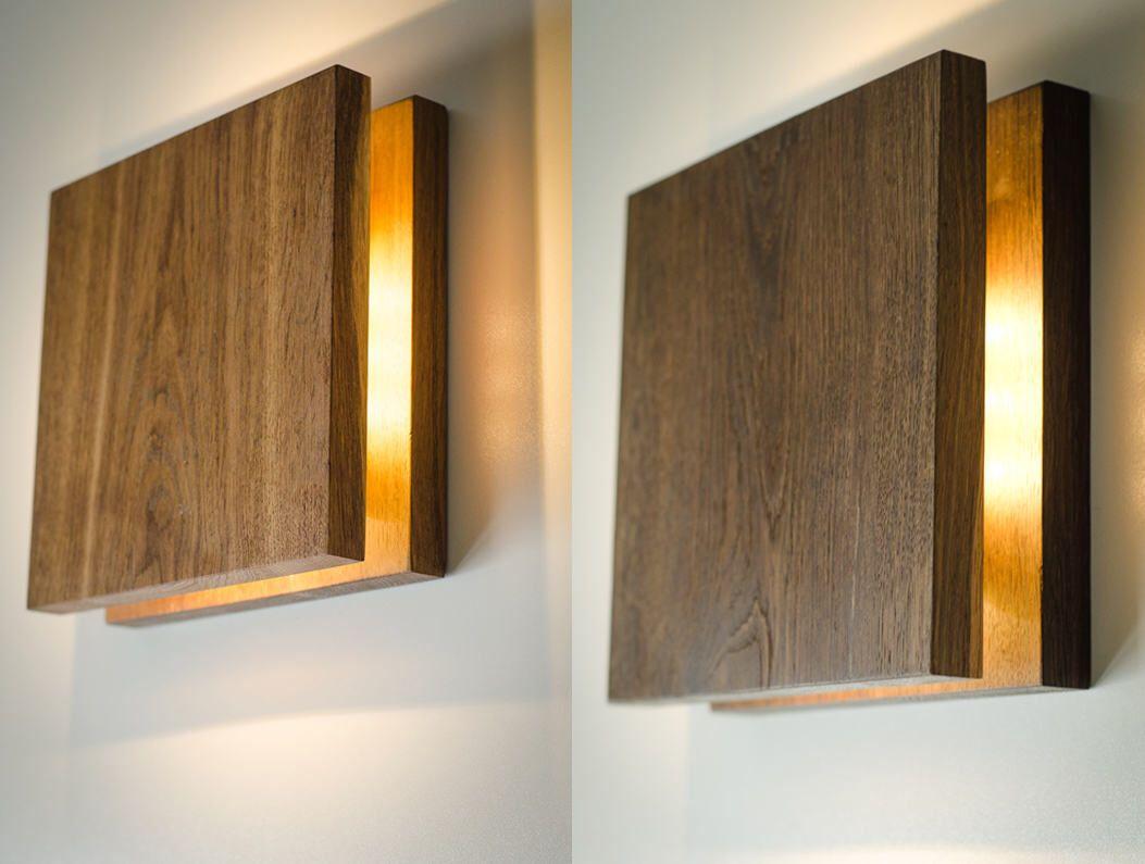 Wooden Lamp Sc389 Modern Wall Sconce Above Bed Decor Bog Oak