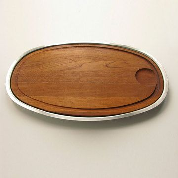 Teak And Stainless Steel Tray Tray Teak Tech Accessories