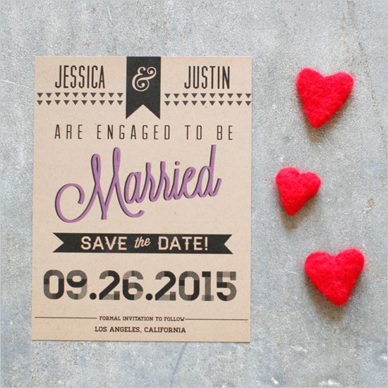 Sleek and Chic Free Printable Save the Date Scarlet, Urban and Wedding