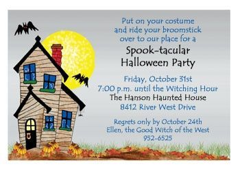 Free Halloween Birthday Party Invitations | HALLOWEEN clip art ...