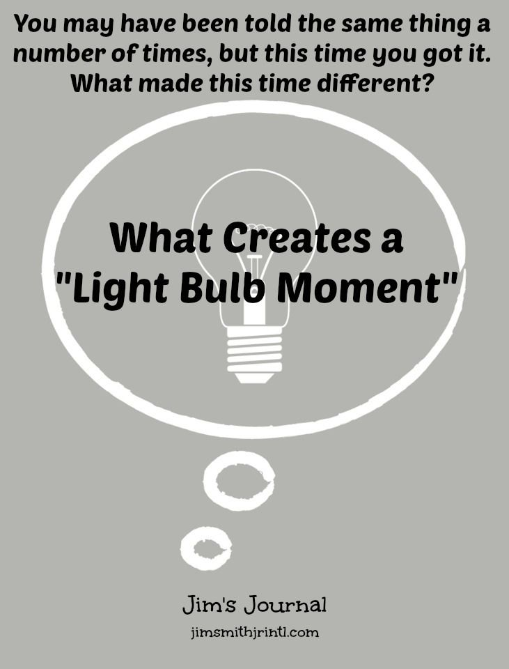 """What Creates A """"Light Bulb Moment"""" 