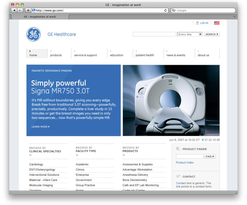 General Electric website