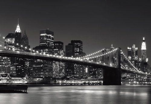 """Fotomural puente de Brooklyn NewYork en blanco y negro - http://vinilos.info/producto/fotomural-puente-de-brooklyn-newyork-en-blanco-y-negro/   Fotomuralde papel especial de alta calidad 8 piezas de colocaciónfácilde colocar Fácil instalación, empapelado normales 2,54 m de altura y 3,66 m de ancho Piezas incluidas: 8 piezas, pegamento especial para pegar a la pared Sobre papel de gran calidad  [amz_corss_sell asin=""""B002C75B76″]  #decoracion"""