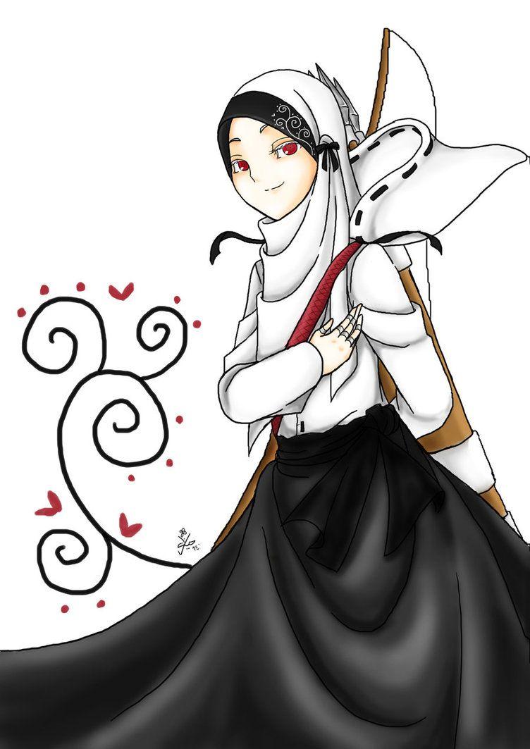Anime Manga Hijab Art Dengan Gambar Animasi Kartun Gambar
