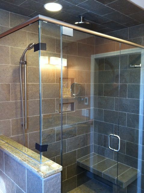 Nice And Spacious Shower Enclosure With Added Function Of A Seat Simple Bathroom Remodeling Dayton Ohio Property