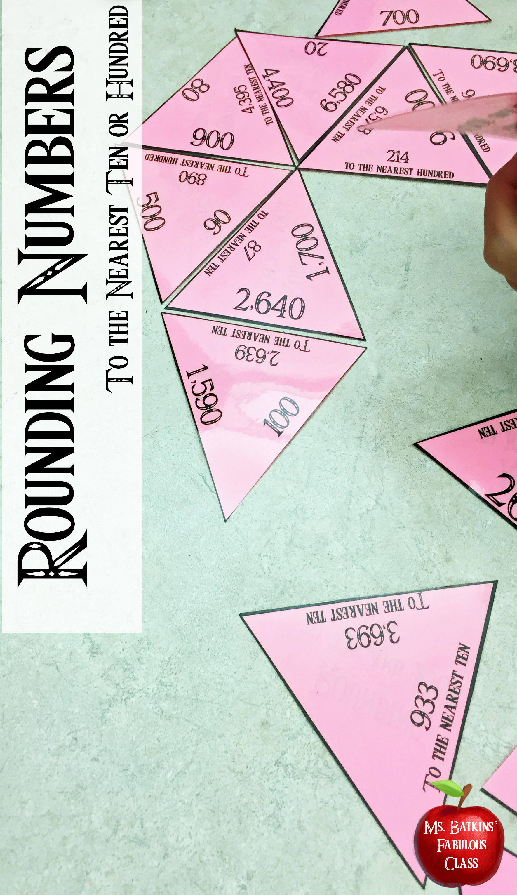 Rounding Numbers Math Center Game To The Nearest Ten And