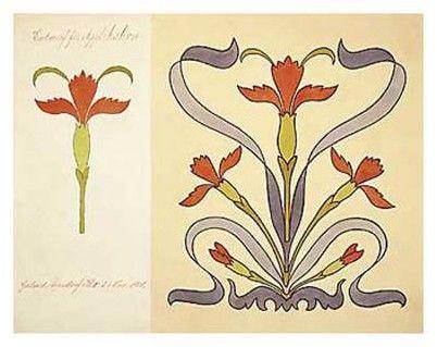 Art Nouveau Design Motifs | Motifs art nouveau - - Posters, Affiches ...