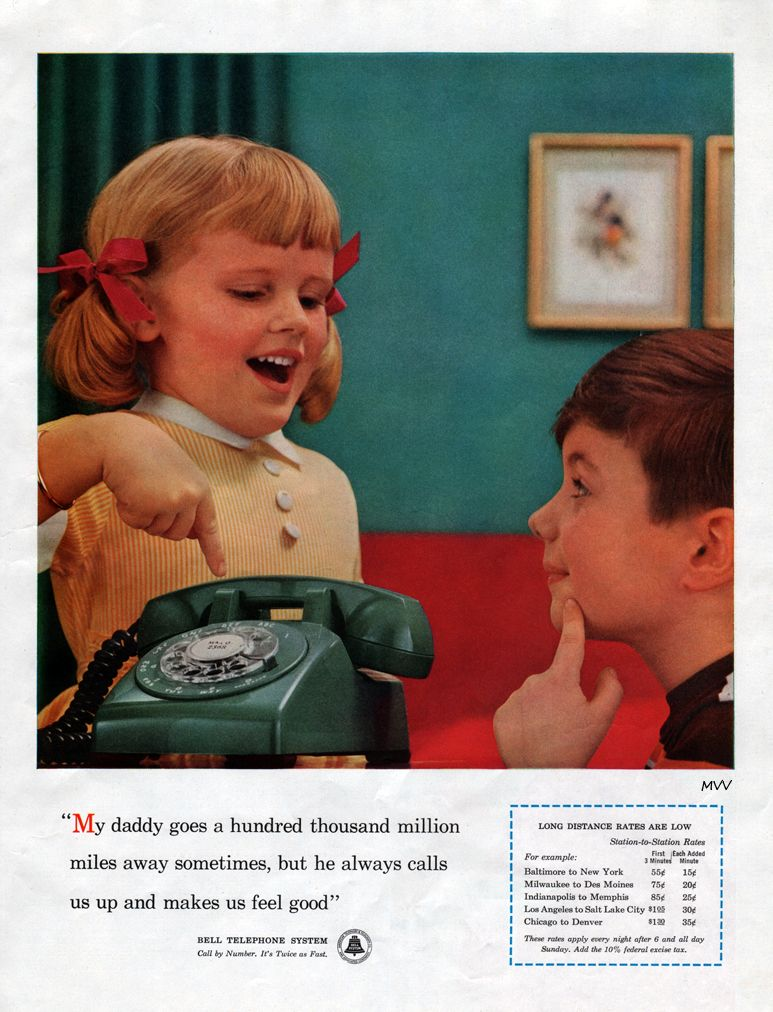 vintage bell telephone ad from 1957. from the vintage madison ave. blog