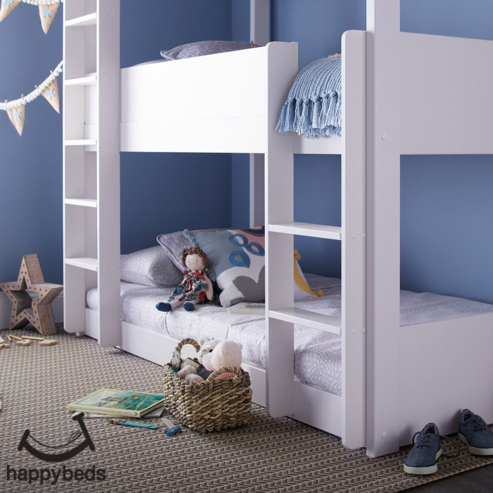 Snowdon White Wooden Triple Sleeper Bunk Bed Bunk beds