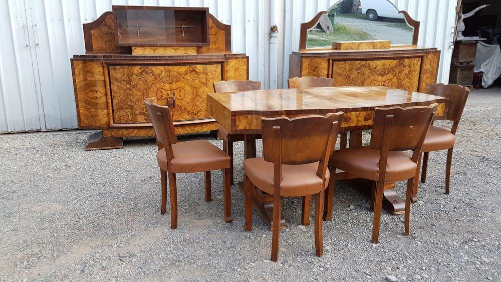 Antique Dining Room Set 1920 S Vintage Art Deco 9 Pc Italian Designer Look Antique Dining Room Sets Art Deco Furniture Living Furniture