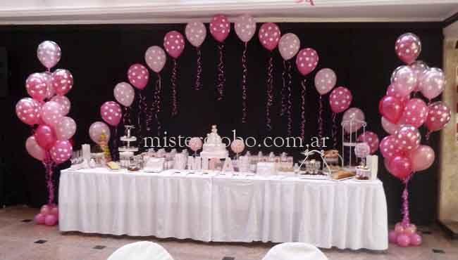 decoraciones de centro de mesa cumpleaños de minnie globos de helio - Buscar con Google