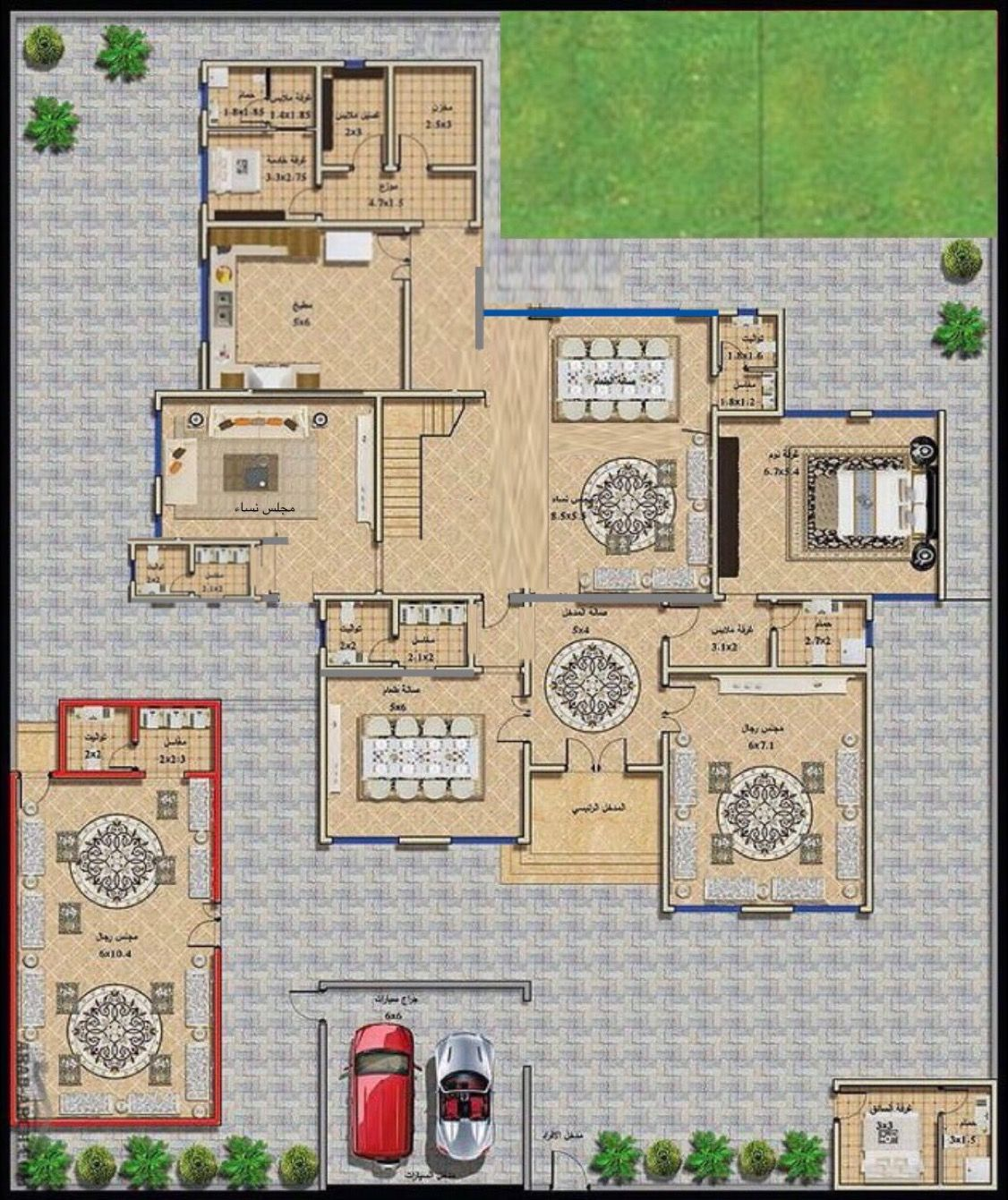 Pin By اصم On عربية House Layouts New House Plans Fantasy House