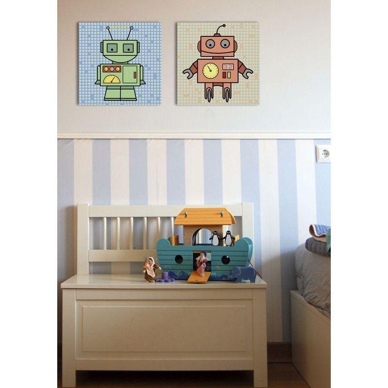 Cuadro infantil Robot para decoracin de habitaciones de nios y