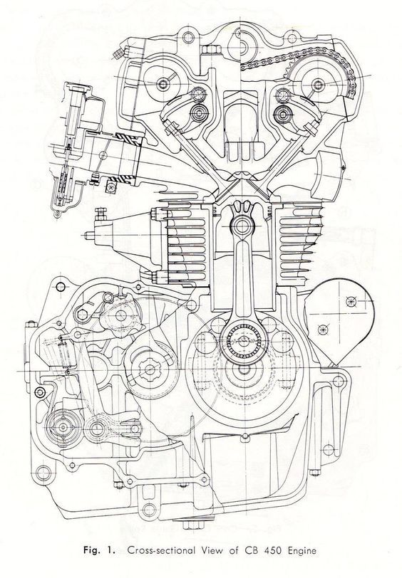cb450 k0 engine cross