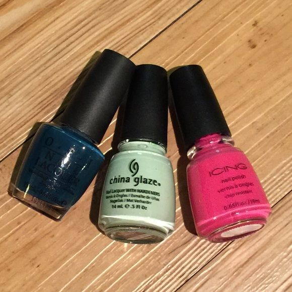 Trio: OPI, China glaze, Icing. Nail polish | Icing nails, Cali girl ...
