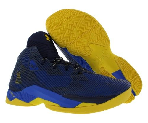 d92b489aecda Men s Under Armour Curry 2.5 Basketball Shoes Team Royal Midnight Navy Taxi  Size 12