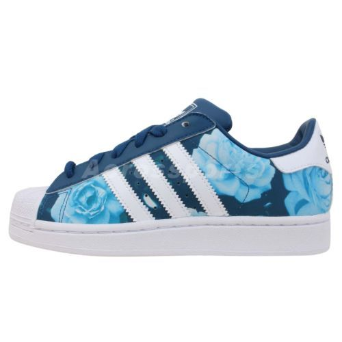 details about adidas originals superstar 2 w blue rose floral womens classic casual shoes. Black Bedroom Furniture Sets. Home Design Ideas