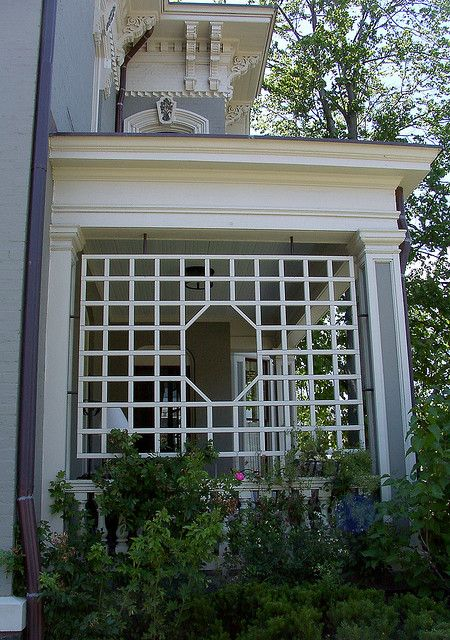 Trellis could do this on our front porch would like to for Window trellis design
