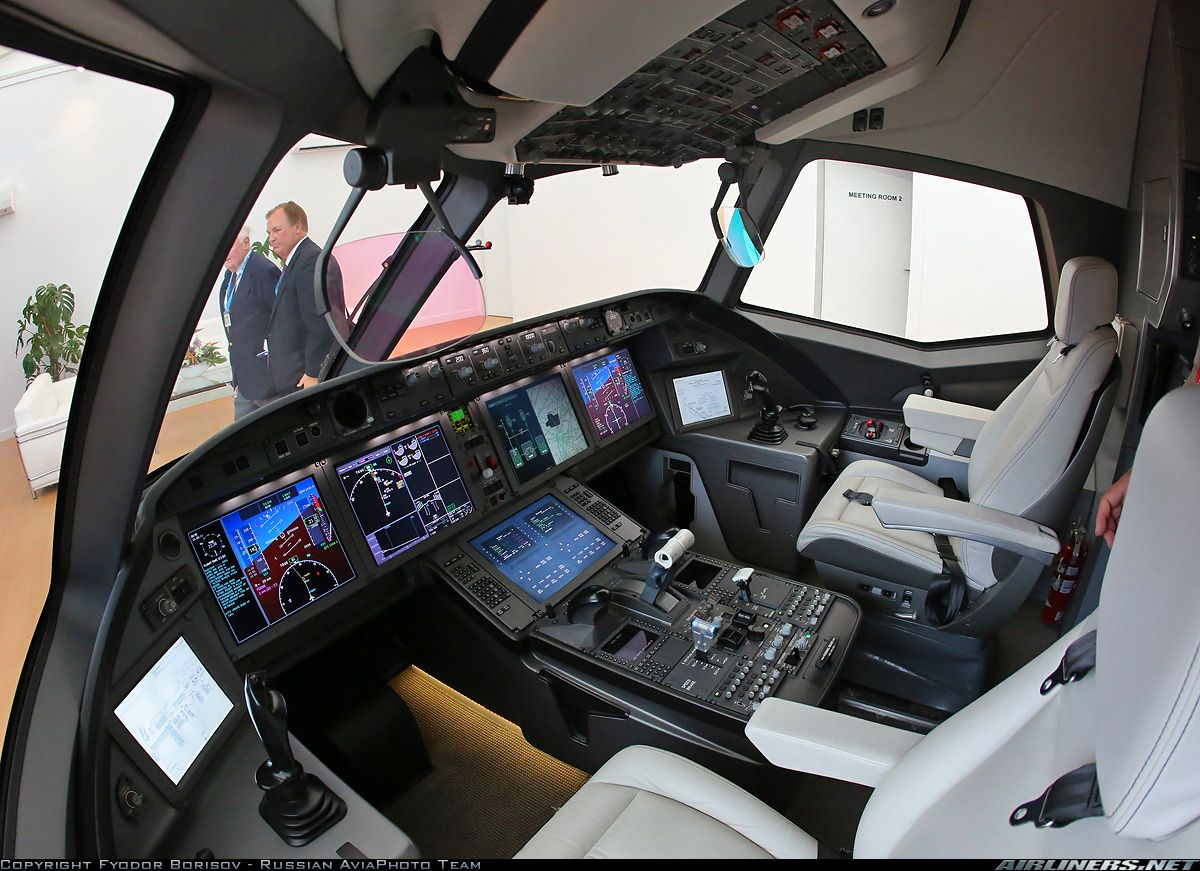 Beautiful Cockpit Mock Up Of The Future Irkut Ms 21 Aircraft On