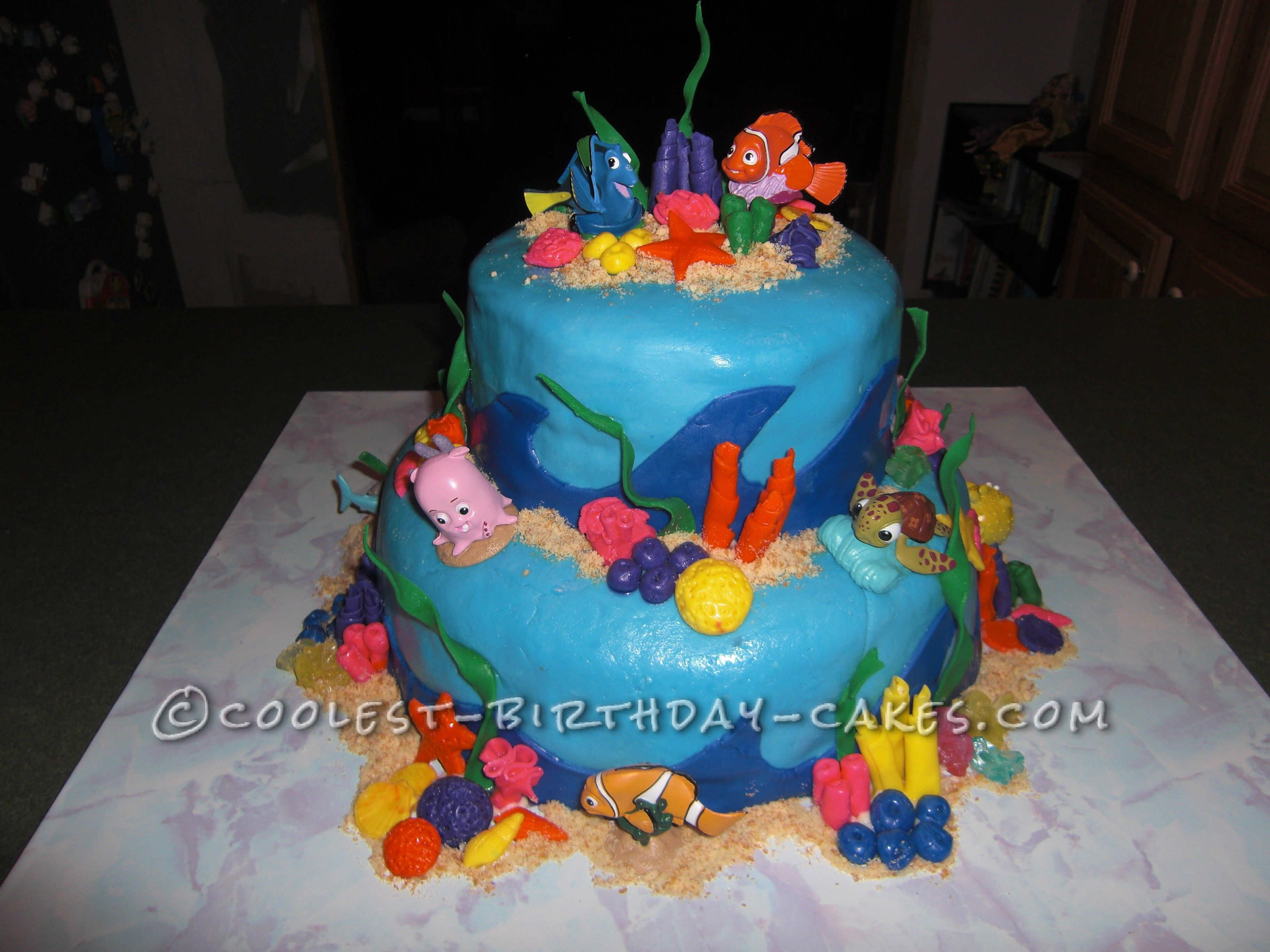 Fabulous Coolest Nemo Birthday Cake For A 3 Year Old Boy With Images Funny Birthday Cards Online Overcheapnameinfo