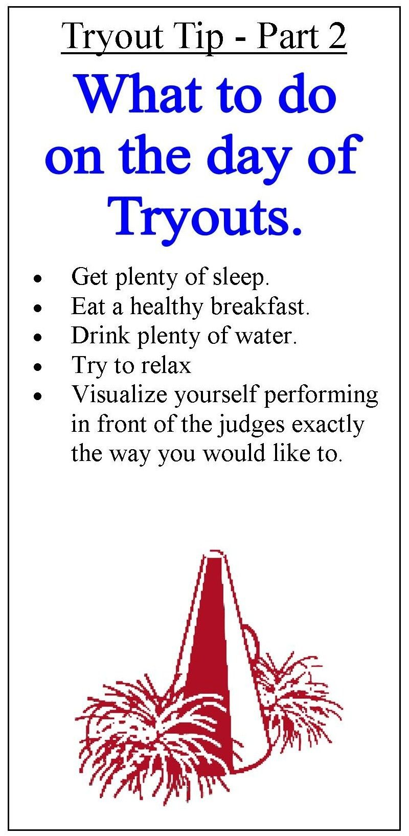 Cheerleading Tryout Information  Cheer Cheerleading And Volleyball