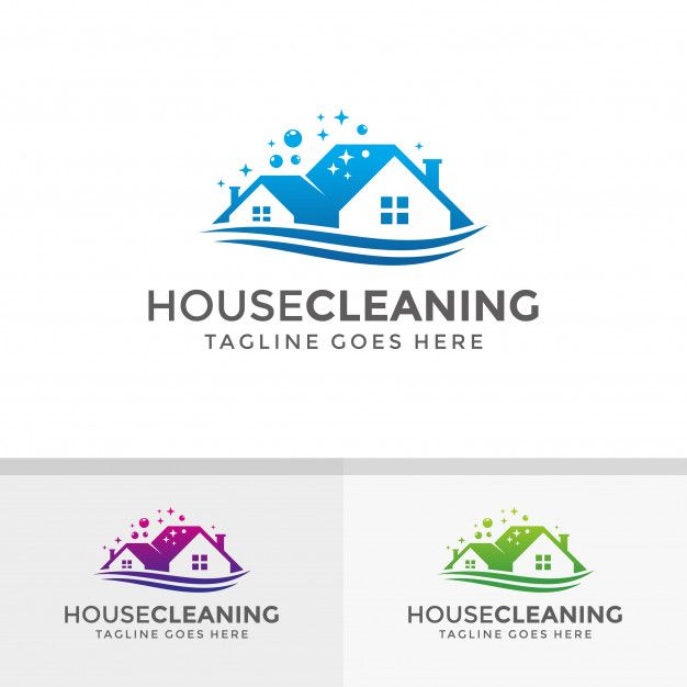 Home, House Cleaning Logo