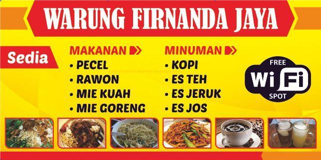 Spanduk Warung Makan Firnanda Jaya Spanduk Jaya Dan Makanan