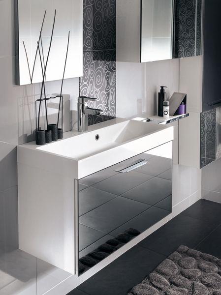 meuble salle de bain faible profondeur mobalpa