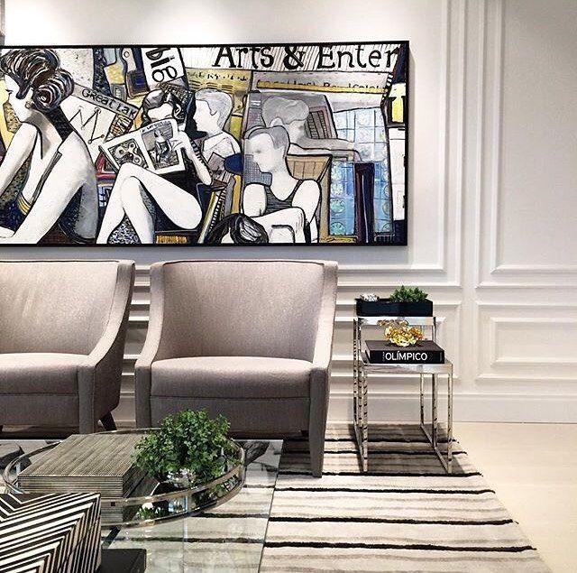 """92 Likes, 1 Comments - Decorando Interiores (@decorando_interiores) on Instagram: """"Inspiração de Living. Por @thaisabohrer #decorhome #decorador #decor #designers #arte…"""""""