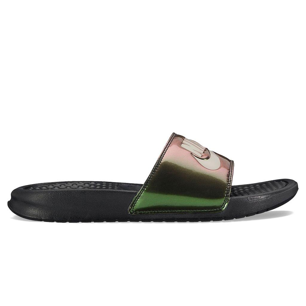on sale e3125 0a8fe Nike Benassi JDI Women s Slide Sandals, Size  6, Grey (Charcoal)