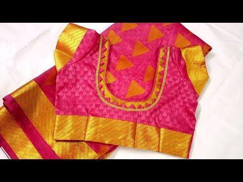 cb65896cfb144 New silk saree blouse design