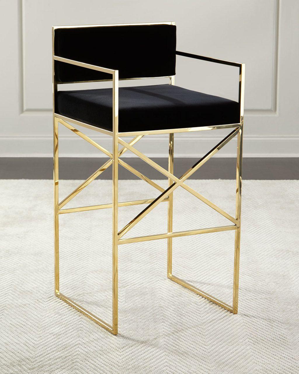Fine Safavieh Kailey Velvet Bar Stool Black Gold 750 Free Unemploymentrelief Wooden Chair Designs For Living Room Unemploymentrelieforg
