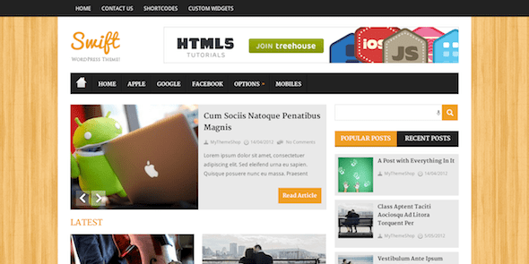MyThemeShop Swift WordPress Theme