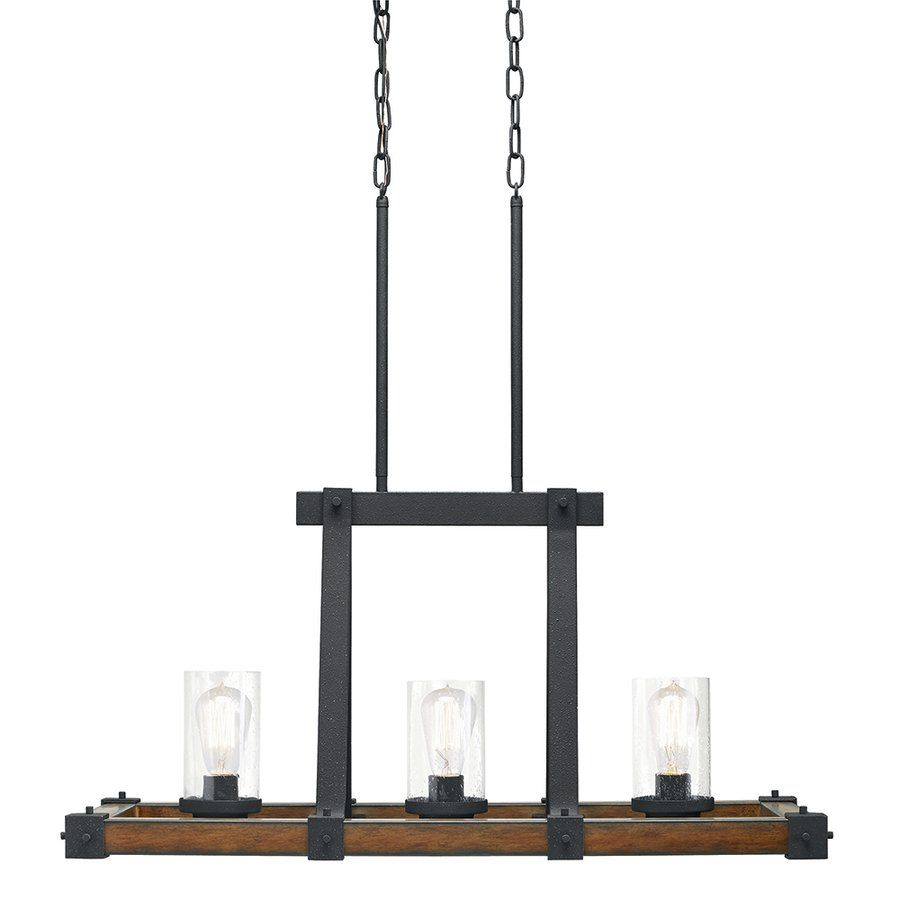 Kichler Lighting Barrington 32.01-in W 3-Light Distressed