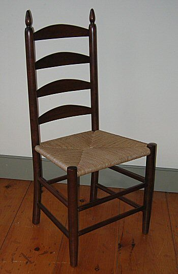 Shaker Ladder Back Side Chair Furniture, Seating, Traditional, Wood,  Minimalist