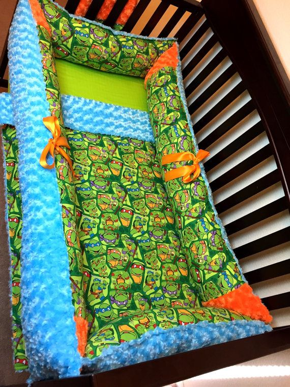 Tmnt Crib Set Turtle Baby Rooms Turtle Nursery Crib Bedding Boy