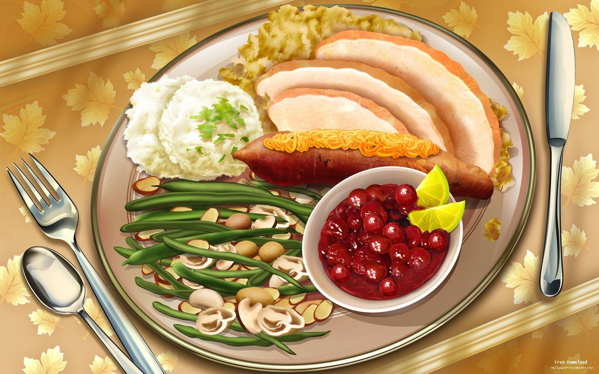 Thanksgiving dinner on a plate ~ digital art & Thanksgiving dinner on a plate ~ digital art | Thanksgiving ...