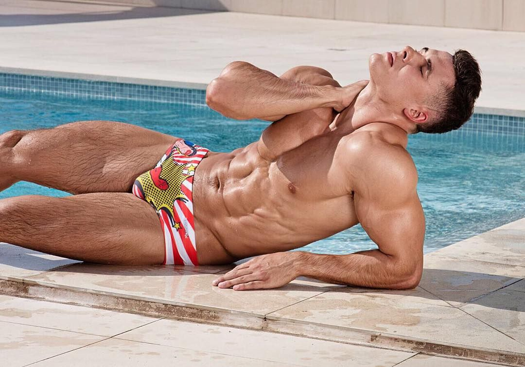 Sexy Man In A Pool